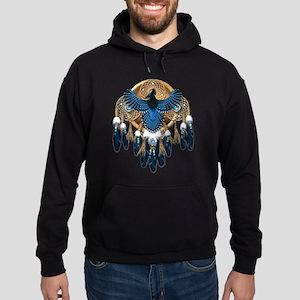 Steller's Jay Dreamcatcher Mandala Hoodie (dark)
