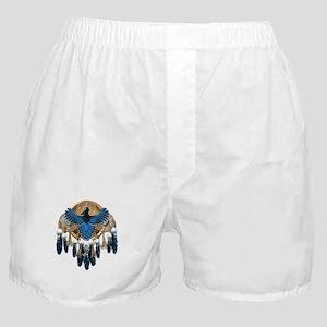 Steller's Jay Dreamcatcher Mandala Boxer Shorts