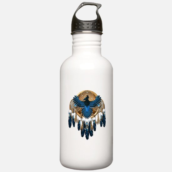 Steller's Jay Dreamcatcher Mandala Water Bottle