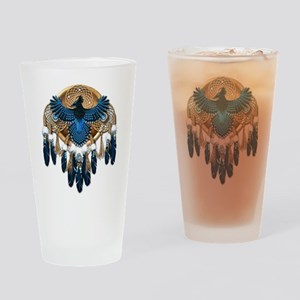 Steller's Jay Dreamcatcher Mandala Drinking Glass