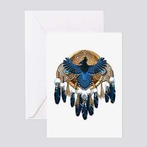 Steller's Jay Dreamcatcher Mandala Greeting Card