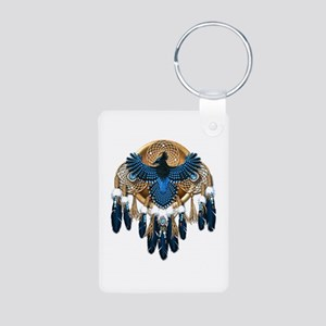 Steller's Jay Dreamcatcher Mandala Aluminum Photo