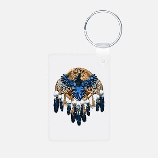Steller's Jay Dreamcatcher Mandala Keychains