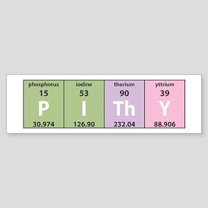Chemistry Pithy Bumper Sticker