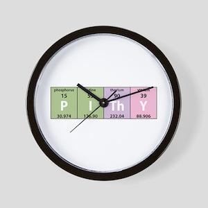Chemistry Pithy Wall Clock