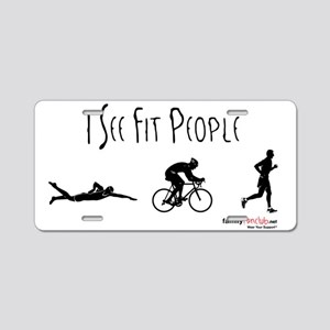 I see fit people - Men Aluminum License Plate