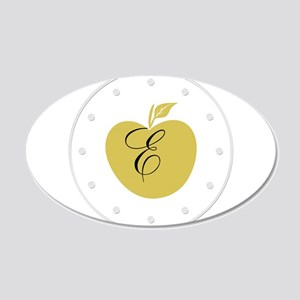 Cute Yellow Apple Monogrammed Wall Decal