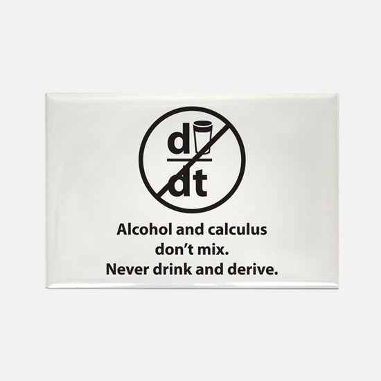 Never drink and derive Rectangle Magnet (10 pack)