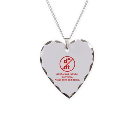 Never drink and derive Necklace Heart Charm