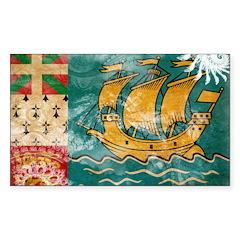 Saint Pierre and Miquelon Fla Sticker (Rectangle)