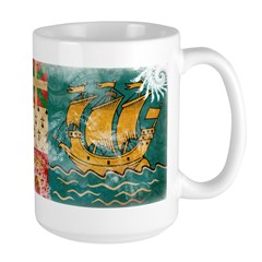 Saint Pierre and Miquelon Fla Large Mug