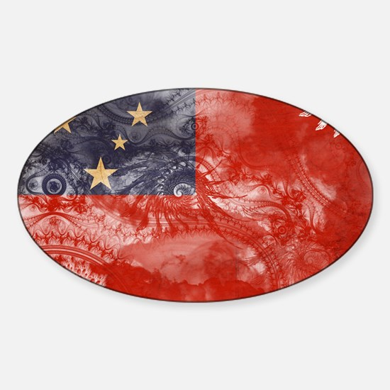 Samoa Flag Sticker (Oval)