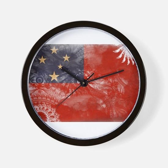 Samoa Flag Wall Clock