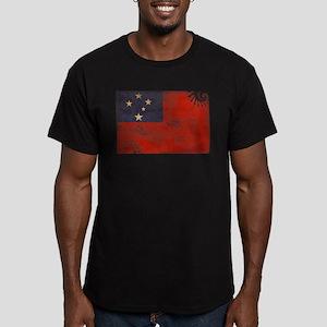 Samoa Flag Men's Fitted T-Shirt (dark)