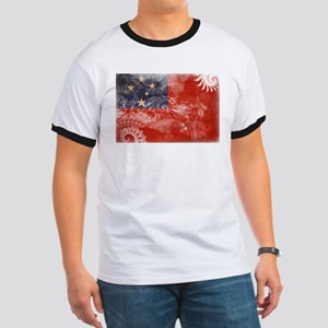 Samoa Flag Ringer T
