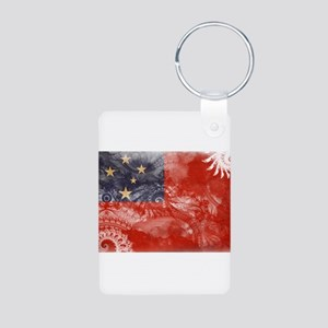 Samoa Flag Aluminum Photo Keychain