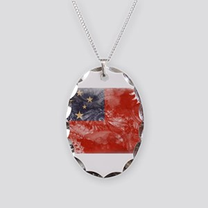 Samoa Flag Necklace Oval Charm