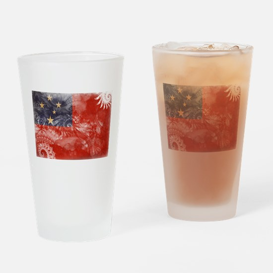 Samoa Flag Drinking Glass