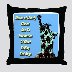 Statue of Liberty Closed Beijing Bed Bug Throw Pil