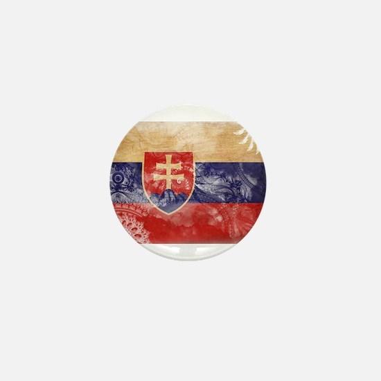 Slovakia Flag Mini Button