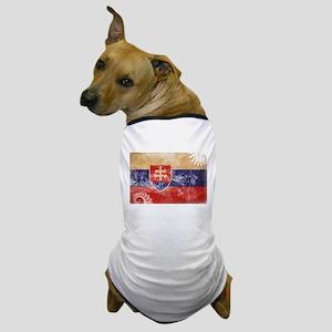 Slovakia Flag Dog T-Shirt