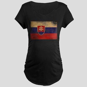Slovakia Flag Maternity Dark T-Shirt