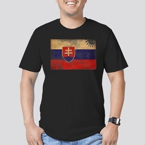 Slovakia Flag Men's Fitted T-Shirt (dark)
