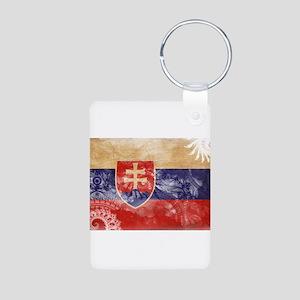 Slovakia Flag Aluminum Photo Keychain