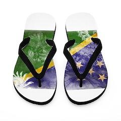 Solomon Islands Flag Flip Flops