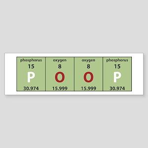 Chemistry Poop Bumper Sticker