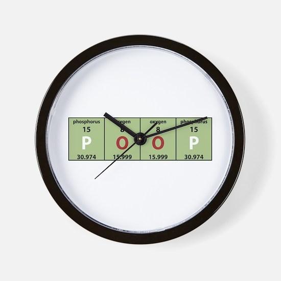 Chemistry Poop Wall Clock