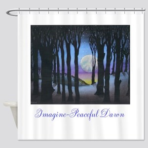 Imagine Peaceful Dawn Shower Curtain