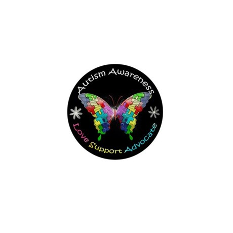 Autism Awareness Butterfly Mini Button (100 pack)