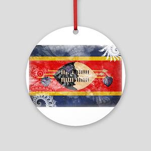 Swaziland Flag Ornament (Round)