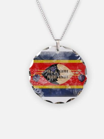 Swaziland Flag Necklace