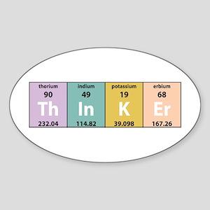 Chemistry Thinker Oval Sticker
