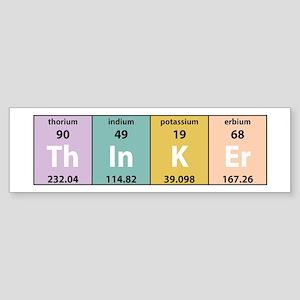 Chemistry Thinker Bumper Sticker