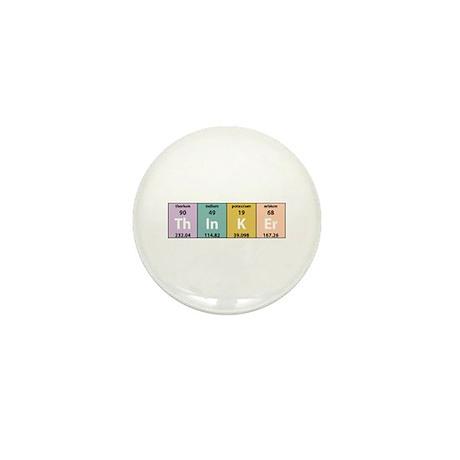 Chemistry Thinker Mini Button (10 pack)