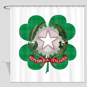 Irish Italian Heritage Shower Curtain
