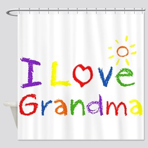 I Love Grandma Shower Curtain