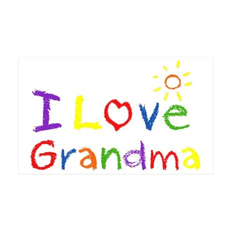 I Love Grandma 38.5 x 24.5 Wall Peel