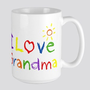 I Love Grandma Large Mug