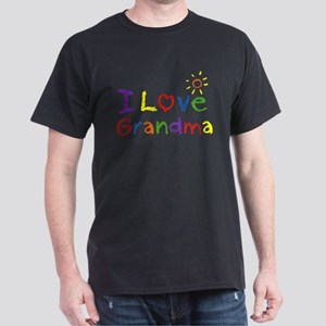 I Love Grandma Dark T-Shirt