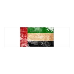 United Arab Emirates Flag 21x7 Wall Peel