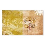 Vatican City Flag Sticker (Rectangle 10 pk)