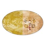 Vatican City Flag Sticker (Oval 50 pk)