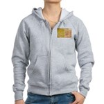 Vatican City Flag Women's Zip Hoodie