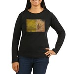 Vatican City Flag Women's Long Sleeve Dark T-Shirt