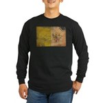 Vatican City Flag Long Sleeve Dark T-Shirt