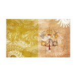 Vatican City Flag 38.5 x 24.5 Wall Peel